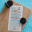 Vintage Milk and Cookies Birthday Party Printable 4x8 Invitation - Blue
